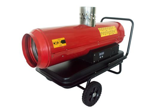 Hot air generator for sheds