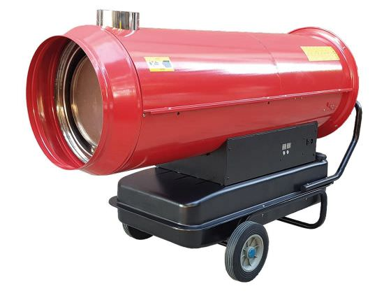 Hot air generator for construction sites