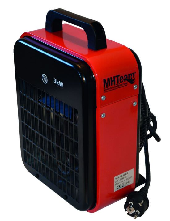 Electric fan heater 3000W IPX4 Red