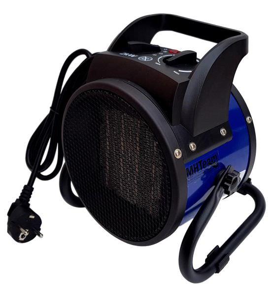 Ceramic fan heater 2000W with handle blu