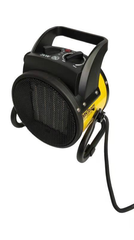 Ceramic fan heater 2000W with handle yel