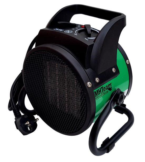Ceramic fan heater 2000W with handle gre