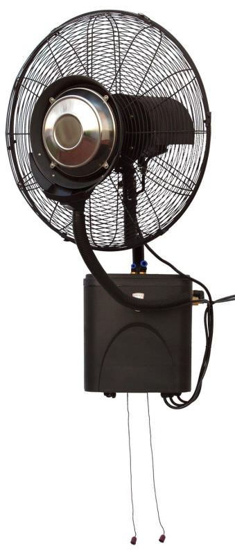 Wall mounted nebulizer fan