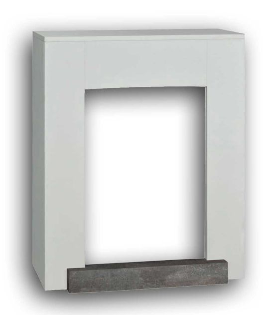 Fireplace Mantel Hamar white MDF wood