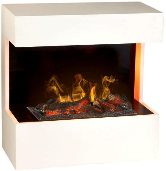 Fireplace with steam fire and Led