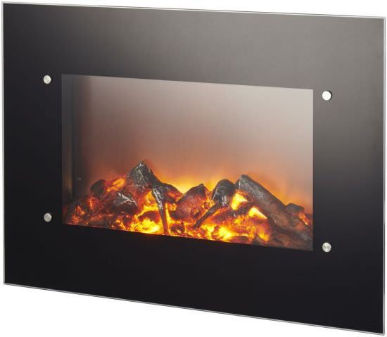 Wall Electric Fire with remote control