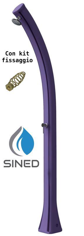 Douche solaire avec Fixation Violet