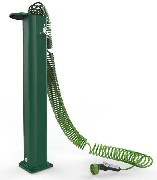 Fontanella Verde con Tubo a Spirale