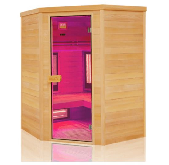 Sauna angolare infrarossi da 3 a 4 posti