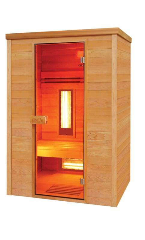 Sauna infrarossi in Cedro Rosso 2 posti