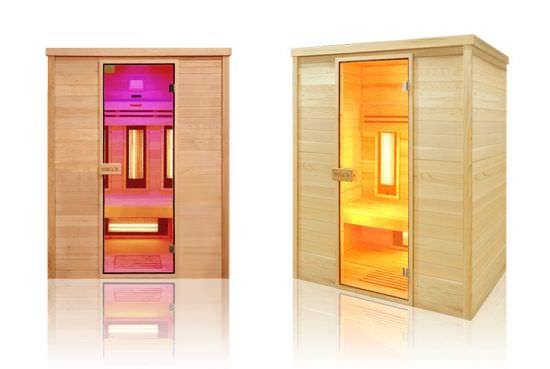 Sauna ad infrarossi da interno a 3 posti