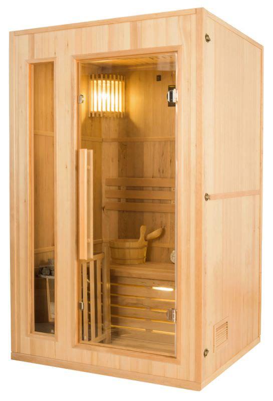Sauna tradizionale rettangolare 2 posti