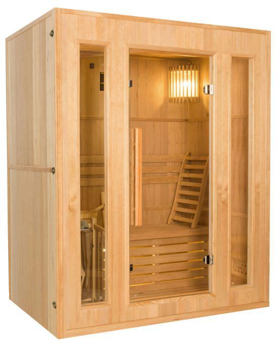 Sauna finlandese a vapore 3 posti