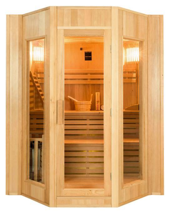 Sauna tradizionale angolare da 4 posti