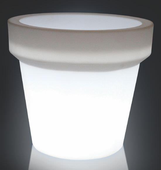 Vaso Large con luce Bianco traslucido