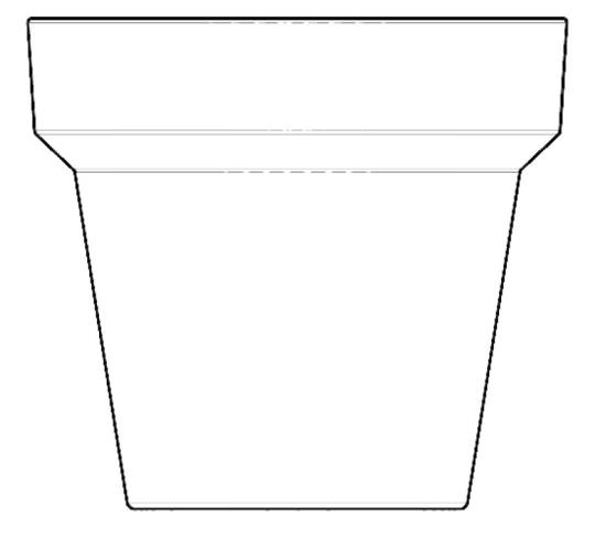 Vaso tondo Medium 90 cm in Resina Cherry