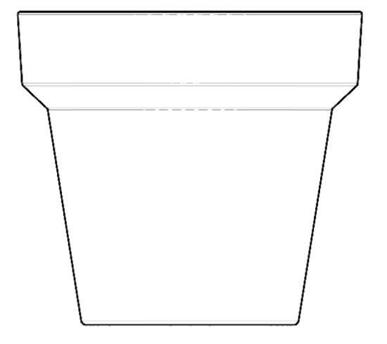 Vaso rotondo XL 160 cm in Resina Arancio