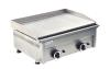 Fry top a gas rigato 8000W professionale