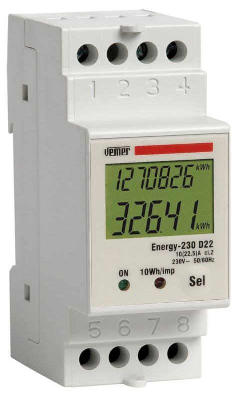 Contatore energia monofase ENERGY 230D22