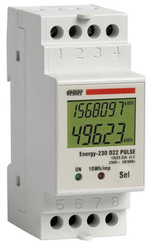 Contatore energia attiva ENERGY 230 D22