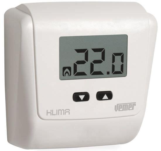 Klima lcd termostato batteria ve729000 for Termostato ambiente vemer