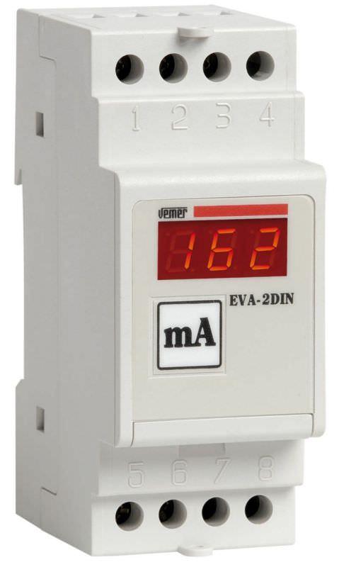 Amperometro digitale modulare EVA2DIN