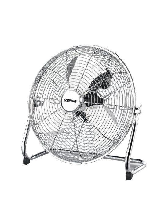 Ventilatore cromato per pavimento Zephir