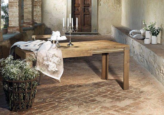 tavolo rustico da cucina