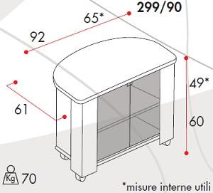 Mobili Porta TV Guarnieri GN29990S
