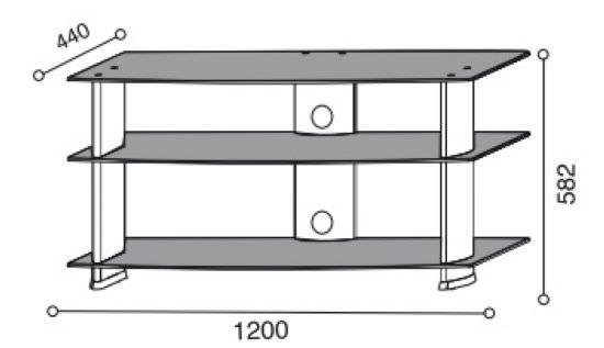 Carrelli Porta Tv Lcd.Carrello Porta Tv Lcd E Plasma In Alluminio E Cristallo