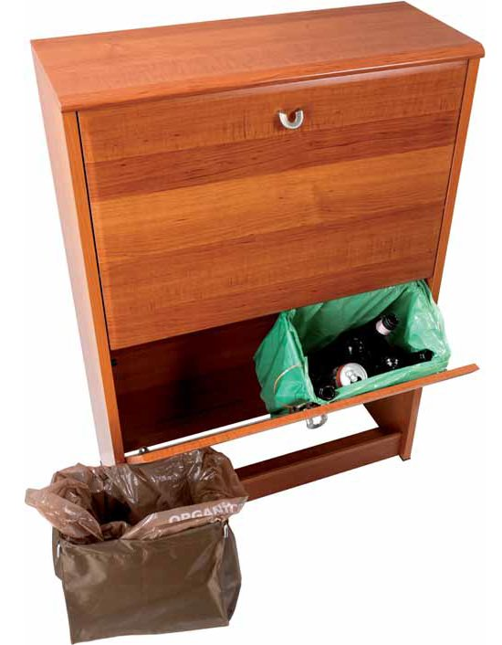 Mobile contenitore per la raccolta differenziata dotato di 4 cestelli ...