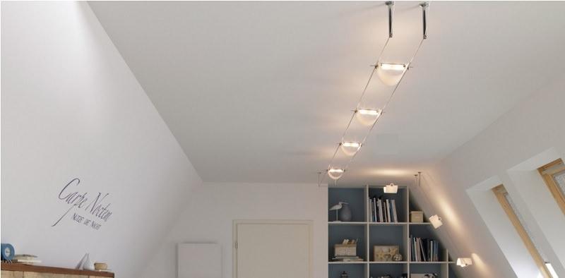 Illuminazione su cavi al miglior prezzo su for Lampade a led per interni prezzi