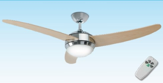 Ventilatore per soffitto con luce cromo for Ventilatori leroy merlin
