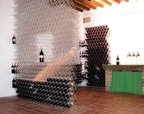 Porta bottiglie in legno o plexiglass for Porta vino fai da te