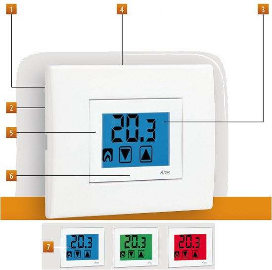 Termostato touchscreen vemer ve459400 for Termostato ambiente vemer
