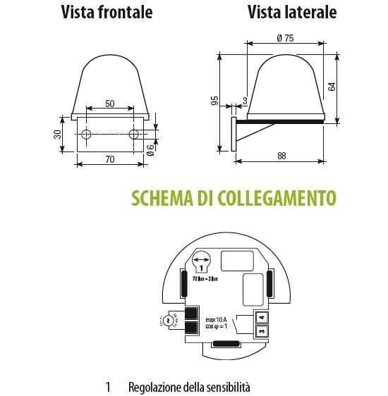 Schema Elettrico Per Crepuscolare : Velux interruttore crepuscolare vac vj