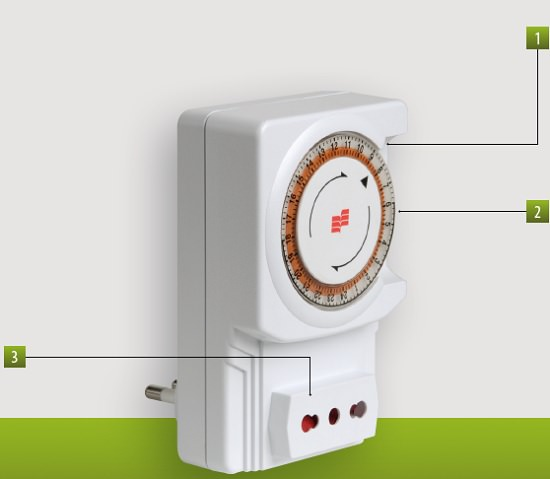Schema Collegamento Orologio Elettromeccanico : Twin plug d orologio a spina g vj