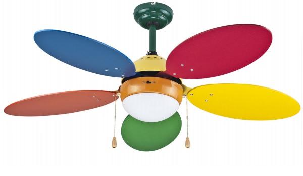 Ventilatori da soffitto colorati su mpcshop for Ventilatore a pale