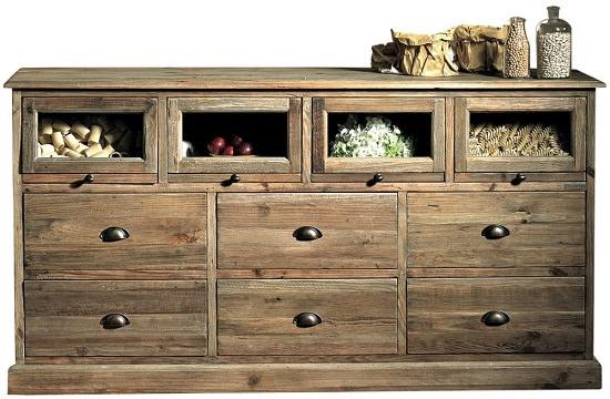 Catalogo online mobili rustici in legno di pino vecchio ed in rattan ...