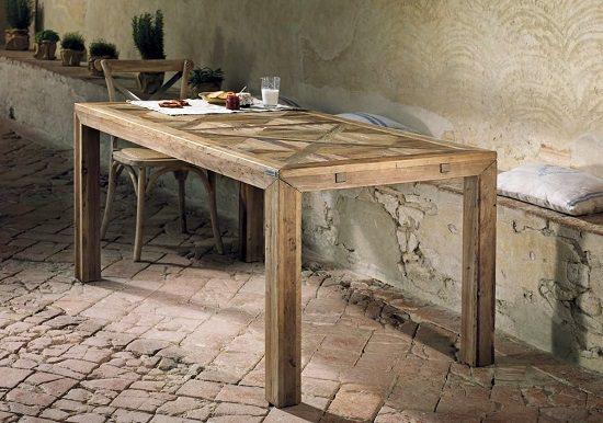 Tavoli rustici in legno di pino invecchiato old wood anche ...