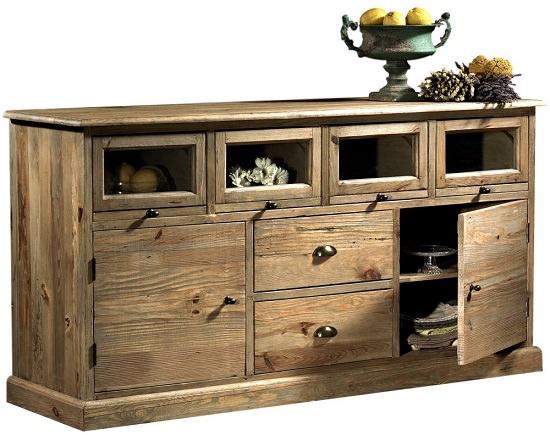 Credenza Bassa Rustica : Credenza rustica in legno di pino vecchio troverai anche