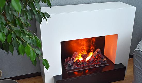 Effetto fuoco a vapore acqueo nei caminetti Glow Fire