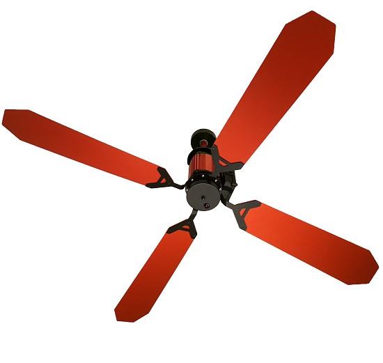 ventilatore per soffitto arancione