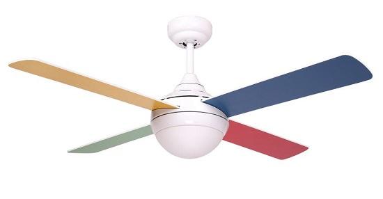 ventilatori da soffitto colorati