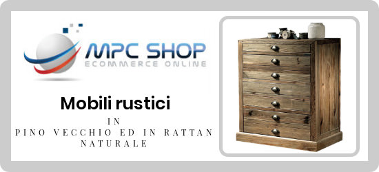 Online catalogue rustic furniture in natural rattan