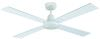 Ceiling Fan without Light 132cm White
