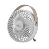 Mini Fan with USB connection Bimar VT19 White Portable plastic fan with eco-leather handle Desk fan with metal support and plastic body Shovel 11 cm Cable with USB plug