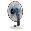 Silent portable oscillating fan by Bimar VT455 Silent table fan with 3 speed selector and Silent function for night use in the bedroom Transparent fan 5 blades diam. 40 cm 60W motor