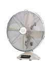 Bimar VTM33 Table Fan Blade Diameter 30 cm Vintage 35W Oscillating Fan with white metal body and chrome-plated grille with handle 3 Speed Selector