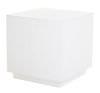 Multipurpose cube in white resin 55 cm